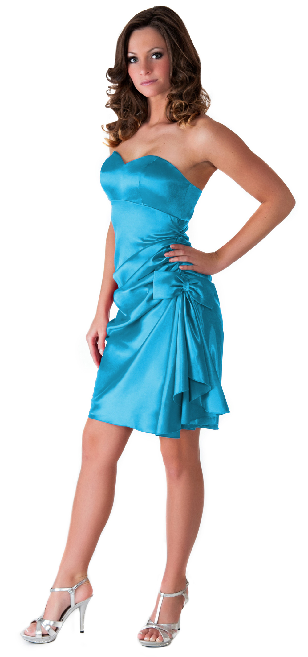 Formal Dress Evening Bridesmaid Wedding Party Prom Elegant Side Pleated S - 3XL