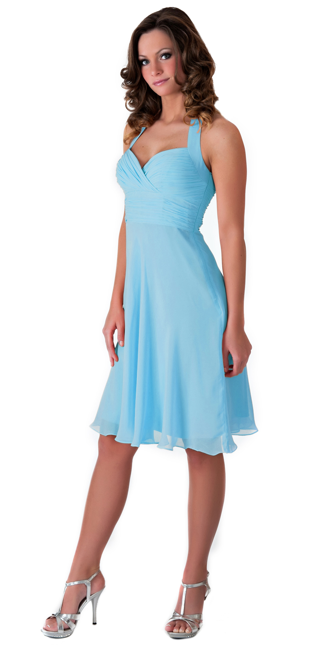 18 Bridesmaid Dresses Under 100 By Lulu S: Formal Dress Pleated Halter Evening Gown Bridesmaid