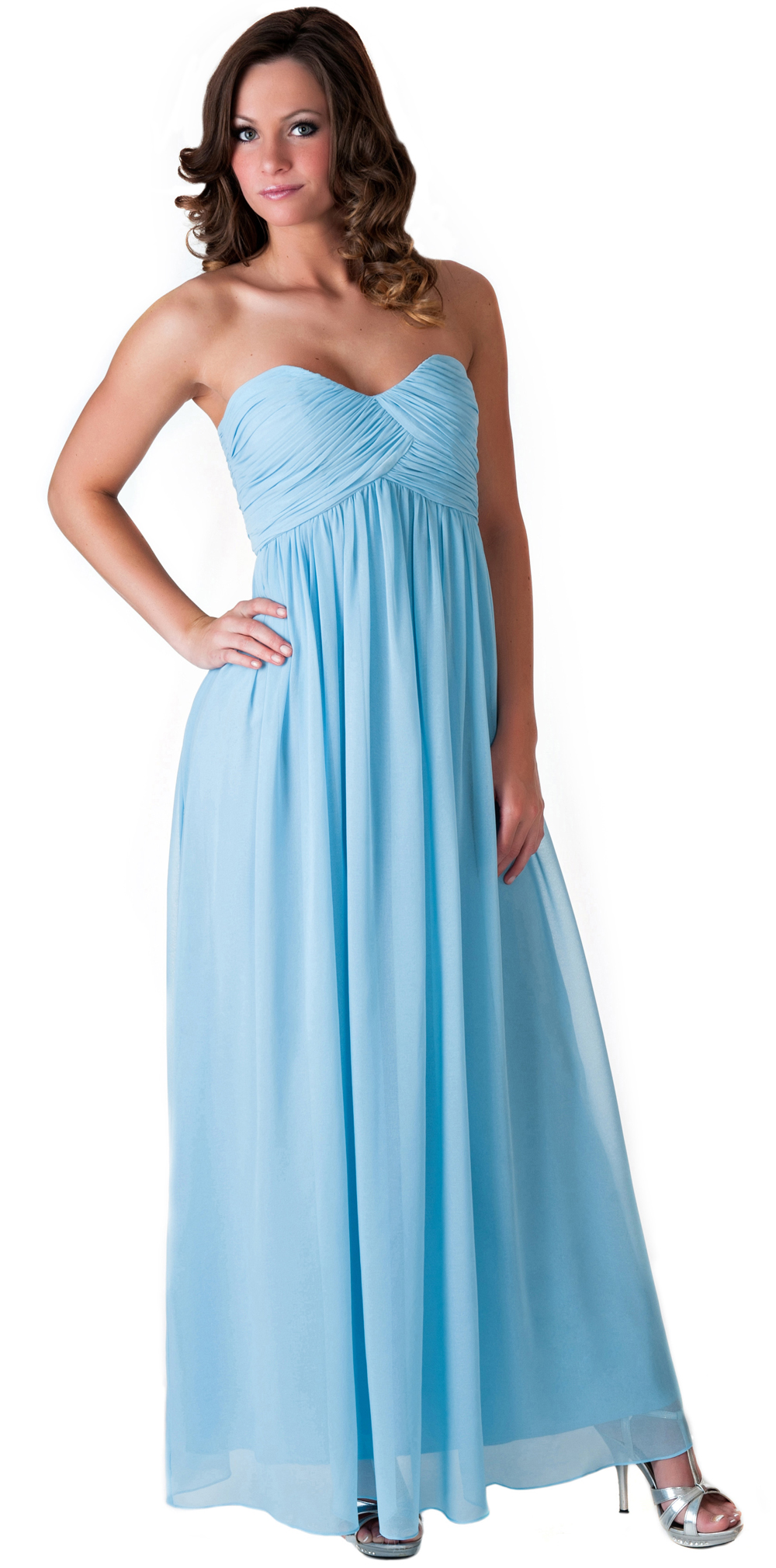 Formal dress full length evening gown bridesmaid wedding for Evening gown as wedding dress