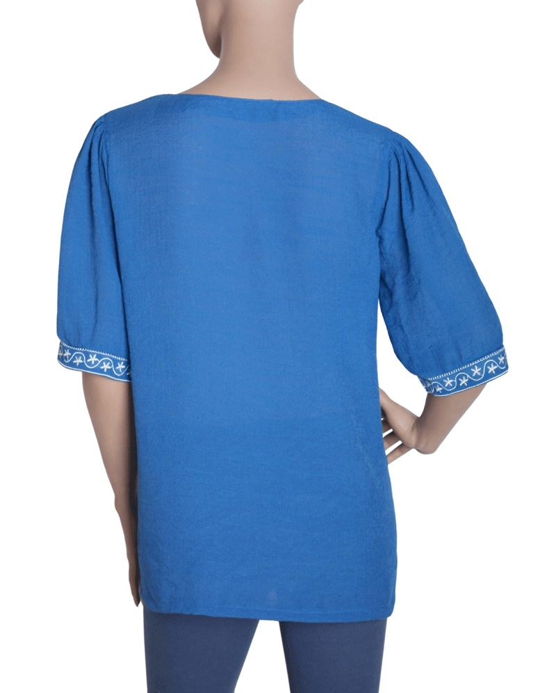 Embroidered embroidery tunic shirt top blouse m l xl