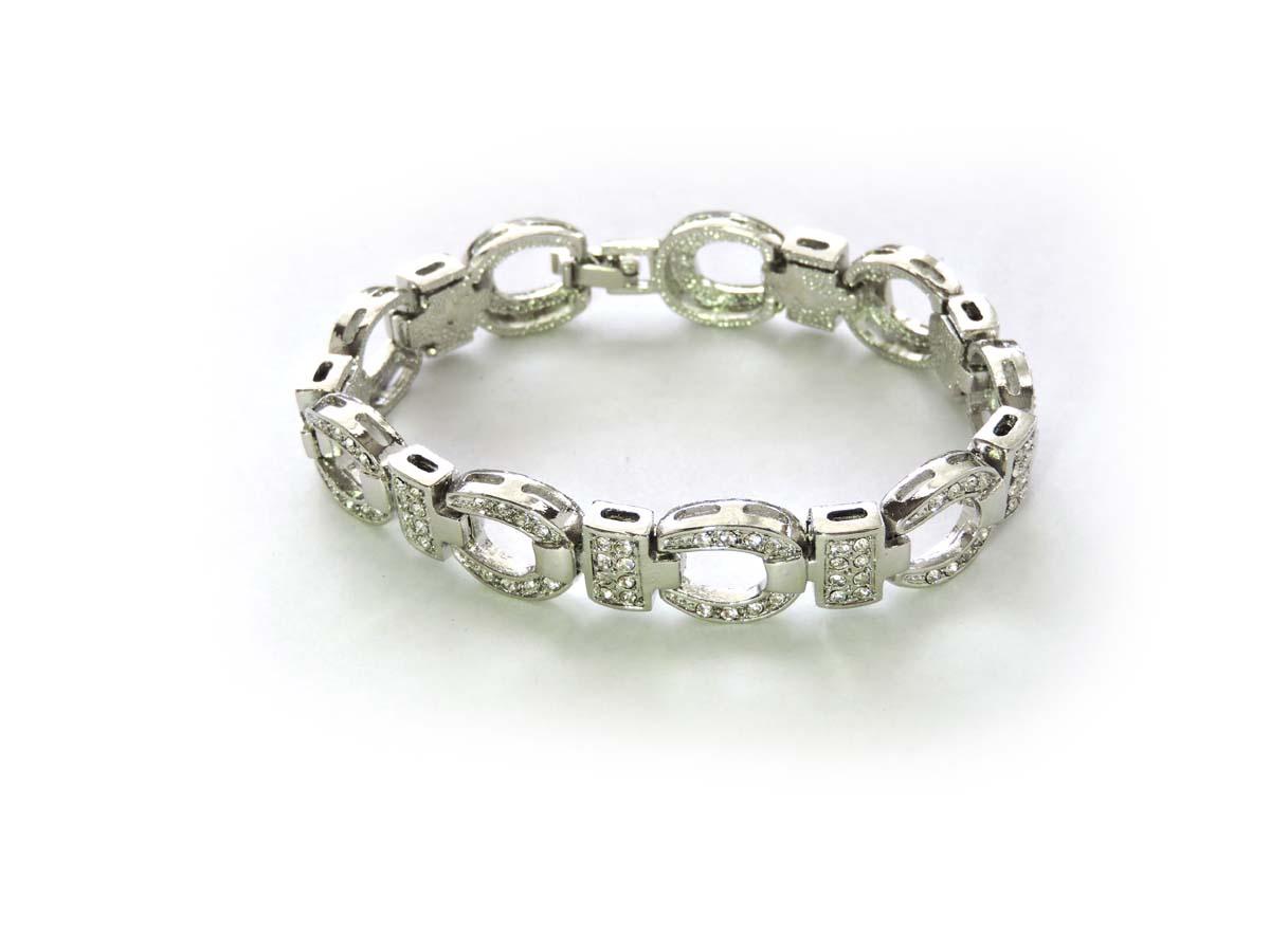 Crystal-Horseshoe-Bracelet-Western-Charm-Luck-Shoe-Cowgirl-Fashion thumbnail 8