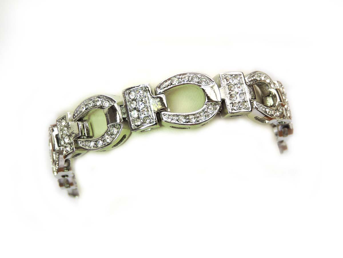 Crystal-Horseshoe-Bracelet-Western-Charm-Luck-Shoe-Cowgirl-Fashion thumbnail 6