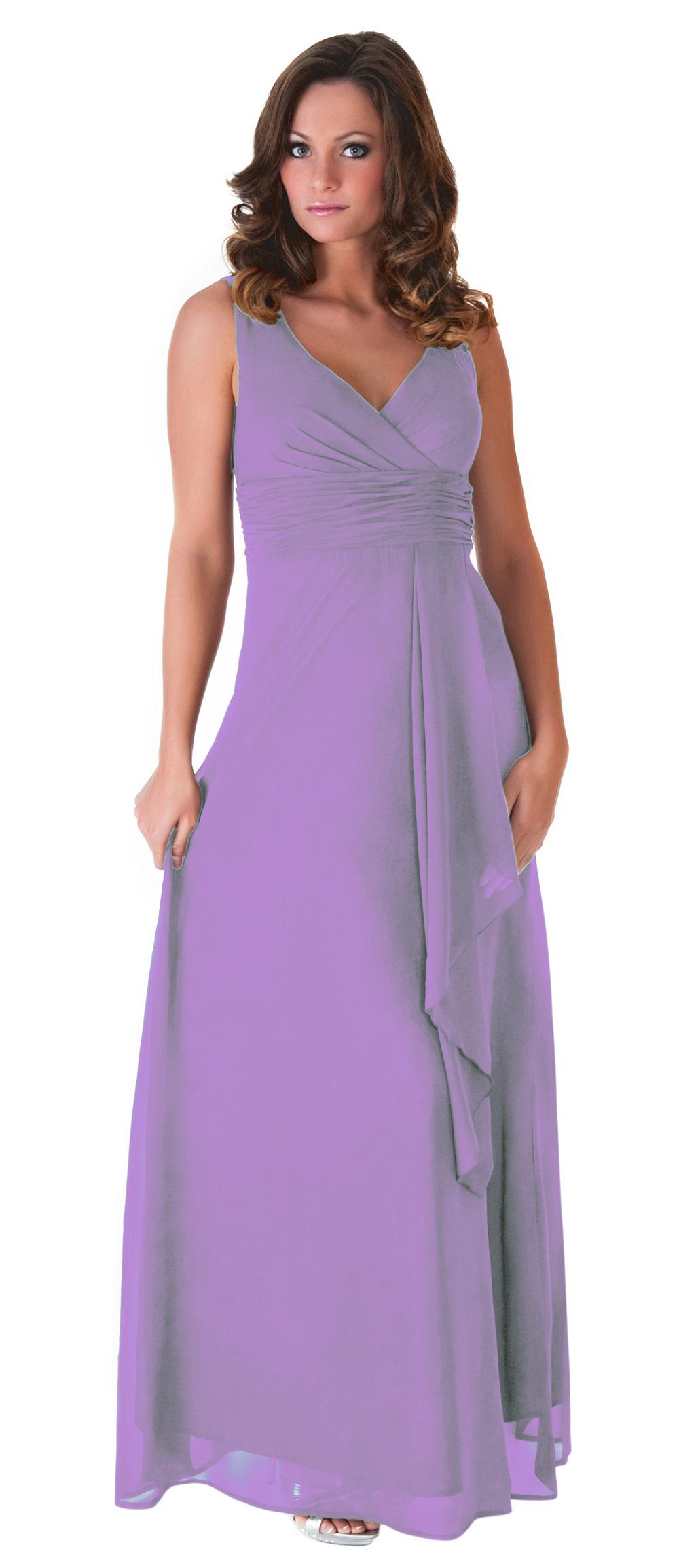 Formal Dress Bridesmaid Wedding Party V-neck Full Length Long ...